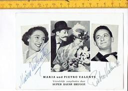 Cine 288 - MARIA UND PIETRO VANENTE  - Met Handtekening - Avec Signature - Artistes