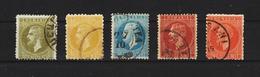 1876 - PRINCE CHARLES - BUCURESTI I  Mi No 43/47 - 1858-1880 Moldavie & Principauté