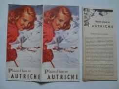 PLAISIRS D'HIVER EN AUTRICHE - AUSTRIA, 1949. 28 + 28 PAGES. COVER ILLUSTRATION BY PAUL AIGNER & ELLI ROLF. FRENCH TEXT. - Dépliants Touristiques
