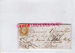 LETTRE EMPIRE DE H. CHAPUT -LIMOGES 10 C -ARMAND NOUALHIER DEPUTE PARIS  1862 - 1849-1876: Période Classique