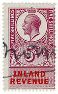 (I.B) George V Revenue : Inland Revenue 5/- - 1902-1951 (Kings)