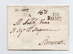 !!! PRIX FIXE : DEPT CONQUIS, 116 DEPT DU TIBRE, MARQUE POSTALE DE ROME 30 GEN. DIVISION SUR LETTRE SANS TEXTE - Postmark Collection (Covers)