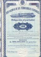 ACCION    Red Nacional De Ferrocarriles Españoles   Año 1951  - 106A - Ferrocarril & Tranvías