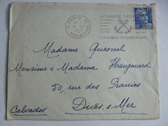 """LET1 - Enveloppe De 1952 Paris Timbre Type 15f Marianne - Flamme """"La Marine Nationale"""" - Frankreich"""