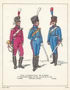 Planche Aquarellee Armee De Joachim Murat Roi De Naple - Uniforms