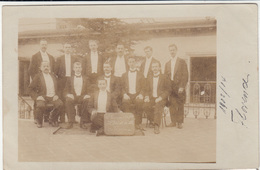 Firenze, Portrait Of Staff From Florence Hotel 1903/1904 Old Photo Unused B171025 - Firenze