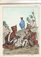 Planche Aquarelleevoltigeur Infanterie En Ligne 1813 - Uniforms