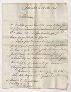 1814  ETAT DES BIENS ET RENTES HOSPICE DE MIREPOIX  CONFISQUES REVOLUTION / LETTRE SOUS PREFET PAMIERS ARIEGE AUDE AR114 - Historische Dokumente