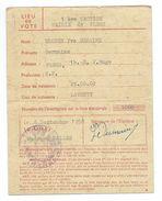 DOCUMENT De 1958..Carte D'Electeur Lieu De Vote à FLERS (61).. 2 Scans - Historical Documents