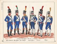 Planche Aquarellee 15 Eme Regiment D'infanterie Légère 1804 1805 - Uniforms