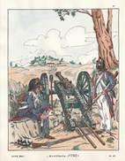 Planche Aquarellee Artillerie  1792 - Uniforms