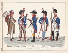 Planche Aquarellee Campagne De 1794 1795 - Divise