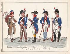 Planche Aquarellee Campagne De 1794 1795 - Uniforms