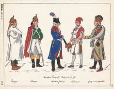 Planche Aquarellee Troupes Francaises Campagne 1794 1795 - Uniformes