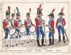 Planche Aquarellee 15 Eme Regiment Infanterie Légère 1804 1805 - Uniformen