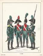 Planche Aquarellee 33 Eme Léger - Uniforms