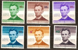 Rwanda 1965 OCBnr. 92-97 *** MNH Abraham Lincoln Cote 3,00 Euro - Rwanda