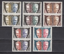 FRANCE 1960 / 1963 - SERIE Y.T. N° 22 A 26 - 5 PAIRES NEUFS** - Service