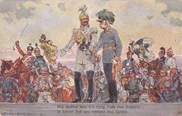 Wir Wollen Sein Ein Einig Volk - Sign. Ludwig Koch - 1914   (171024) - Illustratori & Fotografie