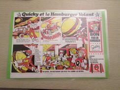 QUICKY ET LE HAMBURGER VOLANT  Pour Collectionneurs ... PUBLICITE POUR LES FAST FOOD QUICK Page De Revue Des Années 70 P - McDonald's