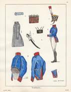 Planche Aquarellee Tirailleurs - Uniforms