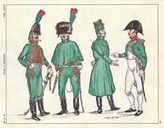 Planche Aquarellee Chasseur A Cheval - Uniformen