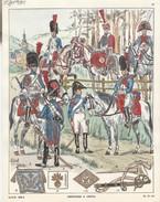 Planche Aquarellee Grenadiers A Cheval - Uniformen
