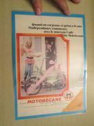 PUBLICITE POUR LES MOBYLETTES MOTOBECANE  -  Pour  Collectionneurs ...    Page De Revue Des Années 70 Plastifiée Par Mes - Autres