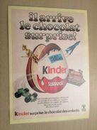 PUBLICITE ANNEES 70 KINDER SURPRISE  -  Pour  Collectionneurs ... PUBLICITE  Page De Revue Des Années 70 Plastifiée Par - Instructions