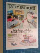PRODUITS LAITIERS JACKY AUTOCOLLANTS FAUNE ET FLORE DU TIERS-MONDE  -  Pour  Collectionneurs ... PUBLICITE  Page De Rev - Stickers
