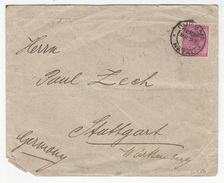 Natal, G. Monhaupt & Co. Company Letter Cover Travelled 1902 Durban To Stuttgart B171025 - South Africa (...-1961)