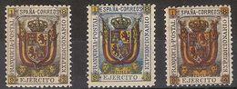 Franquicia Militar Melilla 01/3 ** Ejercito. 1893 - Franchise Militaire
