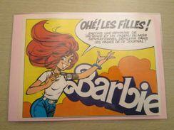 OHE LES FILLES !! POUPEE BARBIE Pour  Collectionneurs ... PUBLICITE MATTEL Page De Revue Des Années 70 Plastifiée Par Me - Barbie