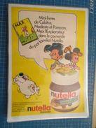 NUTELLA CUBITUS MAX L'EXPLORATEUR MODESTE ET  POMPON   -  Pour  Collectionneurs ... PUBLICITE  Page De Revue Des Années - Nutella