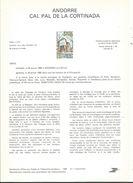 8 NOTICES Philatéliques D' ANDORRE (n°1 à 8) SANS  Timbres   Correspondants .1980 .......à Voir - Cartas