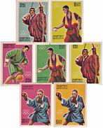 MINT TOKYO OLYMPICS 7-STAMP IMPERF SET BHUTAN 1964 MINT/MNH - Summer 1964: Tokyo