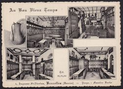 BRUXELLES - CAFE - BRASSERIE ** AU BON VIEUX TEMPS ** Propr. Maurice Baeke - Bières Haecht - Cafés, Hôtels, Restaurants