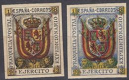 Franquicia Militar Melilla 01s/2s ** Ejercito. 1893 - Franquicia Militar