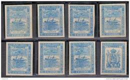 Franquicia Militar Melilla 04s/11s (*)  Marina De Guerra. 1894. Sin Dentar. Sin Goma. - Franchigia Militare
