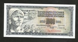 YUGOSLAVIA / JUGOSLAVIA - 1000 DINARA (1981) - Jugoslavia