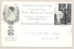 Nederland - 1898 - 2,5 Cent Moed Beleid En Trouw, Briefkaart P33a C.Bisschop - Lokaal Gebruikt Nijmegen - Ganzsachen