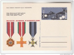 1970 POLAND Postal STATIONERY CARD Illus POLISH MEDALS, PATROTISM , WARSAW Cover Stamps Medal - Stamped Stationery
