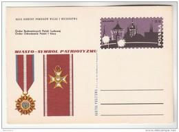 1970 POLAND Postal STATIONERY CARD Illus POLISH MEDALS, PATROTISM , KRAKOW Cover Stamps Medal - Stamped Stationery