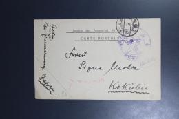 DR Postkarte Bestaetigung Pakket, Service Des Prisonniers De Guerre 1918 Vonn Kurume  Japan To Kokulei (?) - Marcofilie