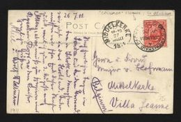 GB 1911 STEAMER TO BELGIUM 'SPHINX' POSTCARD - Postmark Collection