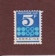 Timbre De Ristourne - COOP . LORRAINE - Ristourne De 5 Francs - Voir Les 2 Scannes - Erinnophilie