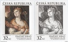Czech Republic - 2017 - Prague Castle - Paolo Caliari Veronese - St. Catherine With Angel - Mint Stamp Set - Repubblica Ceca