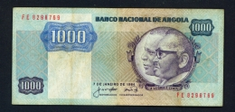 ANGOLA  -  07/01/1984  1000 Kwanzas  Circulated Banknote  - Condition And Serial Number As Scans - Angola