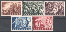 30-071  /BG - 1951   75 JAHRE  - APRILAUFSTAND -  75 Years  April  Revolt   Mi  793/97 ** - Unused Stamps