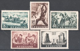 30-084 / BG - 1953  75  YEARS  Of LIBERATION From The OTTMAN  EMPIRE Mi 846/50 ** - Unused Stamps